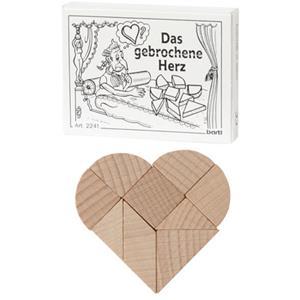 Das gebrochene Herz - Holzpuzzle bedrucken - Werbeartikel Spielzeug mit Logo   Artikel-Nr. BA-102241