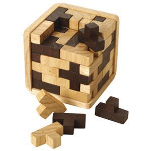 T-Würfel - Holzpuzzle bedrucken - Werbeartikel Spielzeug mit Logo | Artikel-Nr. BA-107992