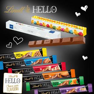 Schokoladen Stick Lindt HELLO als Werbemittel   Artikel-Nr. CD-91264