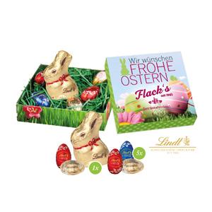 Süße Ostergrüße mit feinster Schokolade - Osterhasen mit Logo - Werbeartikel Ostern | Artikel-Nr. CD-94520