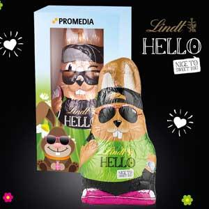 HELLO Bunny - Osterhasen mit Logo - Werbeartikel Ostern   Artikel-Nr. CD-94565