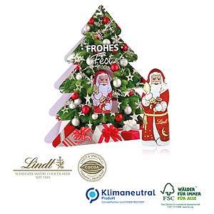Weihnachtsbaum mit Nikolaus - Schokoladen-Weihnachtsmänner | Artikel-Nr. CD-95401