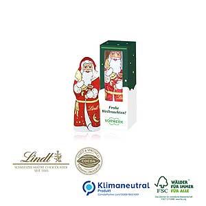 Weihnachtsmann von Lindt mit Logo - Schokoladen-Weihnachtsmänner | Artikel-Nr. CD-95498