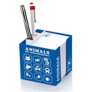 Zettelbox mit Köcher bedrucken | Artikel-Nr. CW-8220