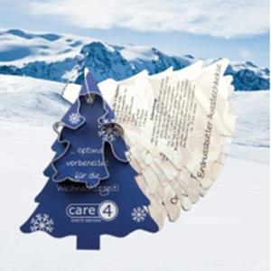 Backförmchen mit Rezeptblock Tannenbaum als Werbeartikel | Artikel-Nr. EF-1098