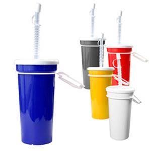 Trinkbecher Take Away 0,5 l - Werbeartikel Kunststoffbecher bedrucken mit Logo   Artikel-Nr. ES-05070