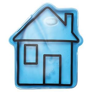 Gel-Wärmekissen Haus bedrucken - Wärmekissen mit Logo - Werbeartikel | Artikel-Nr. ES-06164