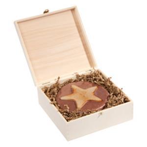 M-Weihnachtstorte in Holzbox als Werbegeschenk   Artikel-Nr. FB-8133