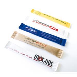 Rohrzucker-Stick bedrucken - Zucker mit Logo - Werbezucker - Werbeartikel   Artikel-Nr. HL-6008