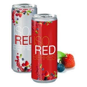 Iso Redberries bedrucken - Getränkedosen mit Logo - Werbeartikel Getränke   Artikel-Nr. TL-1108