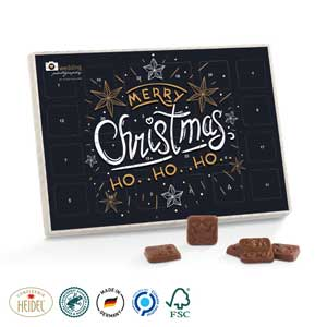 Premium Tisch-Adventskalender als Werbeartikel bedrucken, Werbemittel aus dem Sortiment Adventskalender / Weihnachten