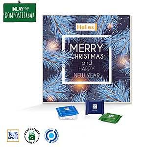 Adventskalender quadratisch als Werbeartikel bedrucken, Werbemittel aus dem Sortiment Adventskalender / Weihnachten