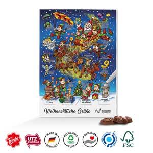 Classic Wand-Adventskalender Std. als Werbeartikel bedrucken, Werbemittel aus dem Sortiment Adventskalender / Weihnachten