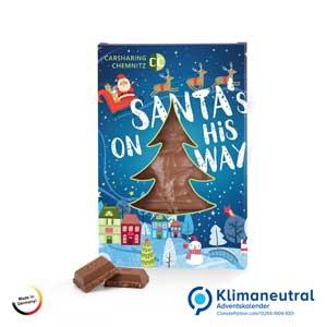 Adventsschokolade als Werbeartikel bedrucken, Werbemittel aus dem Sortiment Adventskalender / Weihnachten