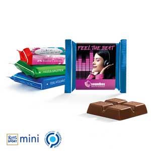 Ritter SPORT Mini als Werbeartikel bedrucken, Werbemittel aus dem Sortiment Schokolade / Essen & Trinken