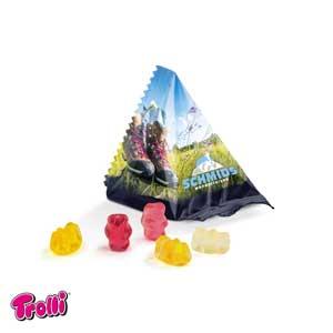Trolli Mini-Tetraeder als Werbeartikel bedrucken, Werbemittel aus dem Sortiment Fruchtgummi / Essen & Trinken
