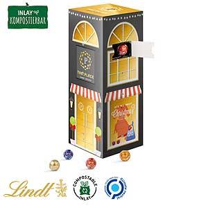 Mini-Kugeln Tower-Adventskalender als Werbeartikel bedrucken, Werbemittel aus dem Sortiment Adventskalender / Weihnachten