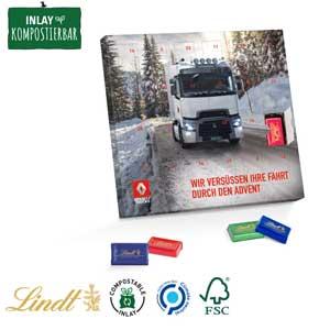 Täfelchen-Adventskalender als Werbeartikel bedrucken, Werbemittel aus dem Sortiment Adventskalender / Weihnachten