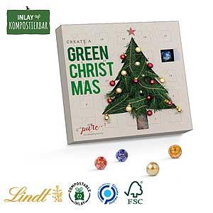 Mini-Kugeln Adventskalender als Werbeartikel bedrucken, Werbemittel aus dem Sortiment Adventskalender / Weihnachten