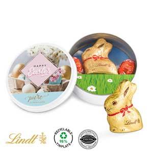 Oster Dose - Osterhasen mit Logo - Werbeartikel Ostern | Artikel-Nr. SW-1356