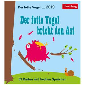 Kalender Der Fette Vogel Bricht Den Ast 2019 Als Werbeartikel