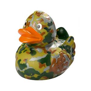 Quietsche-Ente Tarnfleck mit Logo   Artikel-Nr. MB-32082