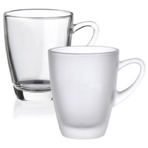 Kenia Glastasse bedrucken - Glastassen mit Logo - Werbeartikel Tassen | Artikel-Nr. RS-4418