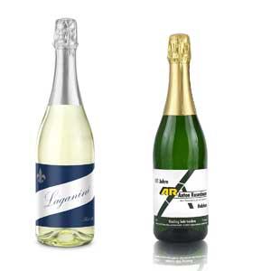 Sekt Cuvee Trocken bedrucken - Sektflaschen mit eigenem Etikett - Sekt mit Logo - Werbeartikel Getränke | Artikel-Nr. RD-2K902