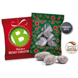 Weihnachtsmandeln bedrucken - Süßigkeiten mit Logo - Streuartikel Weihnachten | Artikel-Nr. SD-1081