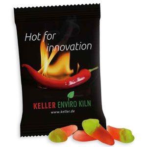 Chili Schoten als Werbeartikel bedrucken, Werbemittel aus dem Sortiment Fruchtgummi / Essen & Trinken