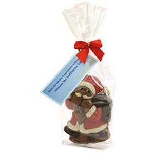 Mini Weihnachtsmann mit Logo - Schokoladen-Weihnachtsmänner - Werbeartikel Weihnachten | Artikel-Nr. SR-3154
