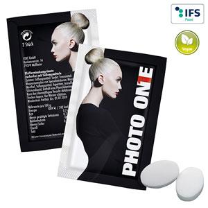 Duo-Pack Pfefferminzpastillen mit Logo - Werbeartikel Pfefferminz bedrucken | Artikel-Nr. PA-110105200