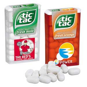 tic tac in der Box mit Logo - Werbeartikel Pfefferminz bedrucken | Artikel-Nr. PA-110106300