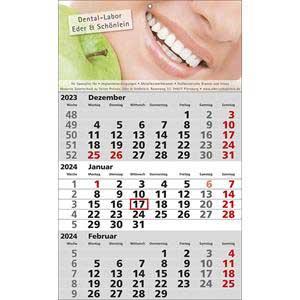 STANDARD 1 als Werbeartikel bedrucken, Werbemittel aus dem Sortiment 3-Monatskalender / Kalender