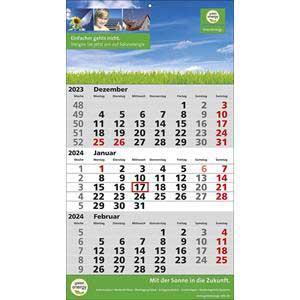 3-Monatskalender STANDARD 2 PLUS drucken | Artikel-Nr. WK-5105