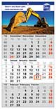 Werbeartikel 3-Monats-Wandkalender Smart