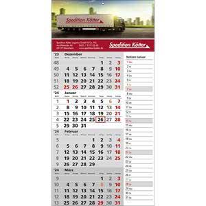 Memo - 4-Monatskalender 2021 drucken - Werbeartikel Kalender   Artikel-Nr. WK-5111