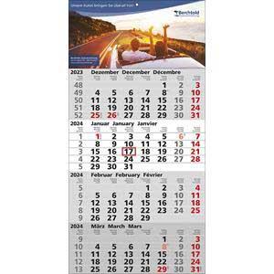 QUATTRO - 4-Monatskalender 2020 drucken - Werbeartikel Kalender | Artikel-Nr. WK-5112