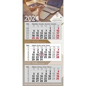 PREMIUM 3 - 3-Monatskalender 2020 drucken - Werbeartikel Kalender   Artikel-Nr. WK-5153