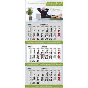 3-Monatskalender Classic 3 als Werbegeschenk | Artikel-Nr. WK-5157