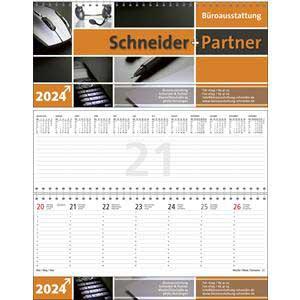 Business-Premium als Werbeartikel bedrucken, Werbemittel aus dem Sortiment Querkalender / Kalender