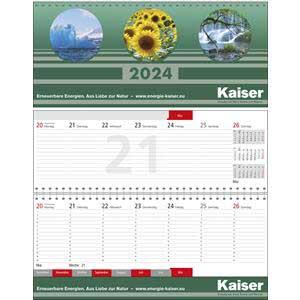 Business plus Register - Tisch-Querkalender bedrucken - Werbeartikel Kalender | Artikel-Nr. WK-5208