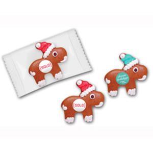 Lebkuchenelch klein als Werbeartikel bedrucken, Werbemittel aus dem Sortiment Lebkuchen / Weihnachten