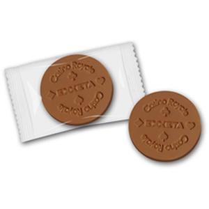 Schokotaler mit Prägung - Schokoladenmünzen - Bedruckte Schokolade mit Logo - Werbeartikel   Artikel-Nr. ZM-0427
