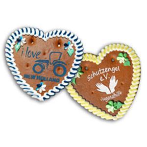 Lebkuchenherz Größe 4 bedrucken - Lebkuchenherzen mit Logo - Werbeartikel individuell | Artikel-Nr. ZM-0509