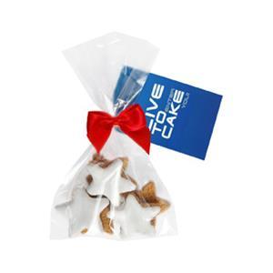 5 Zimtsterne im Beutel bedrucken - Gebäck mit Logo - Weihnachtsgebäck - Werbeartikel Weihnachten | Artikel-Nr. ZM-0719
