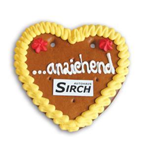 Lebkuchenherz Größe 4 bedrucken - Lebkuchenherzen mit Logo - Werbeartikel individuell   Artikel-Nr. ZM-0836