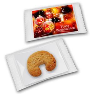 Vanillekipferl auf Karte bedrucken - Gebäck mit Logo - Weihnachtsgebäck - Werbeartikel Weihnachten   Artikel-Nr. ZM-0939