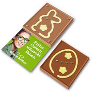 Schokoladenspiel Hase und Ei als Werbeartikel | Artikel-Nr. ZM-1458