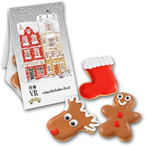 Cookie Winterset Promobag bedrucken - Gebäck mit Logo - Weihnachtsgebäck - Werbeartikel Weihnachten | Artikel-Nr. ZM-1510